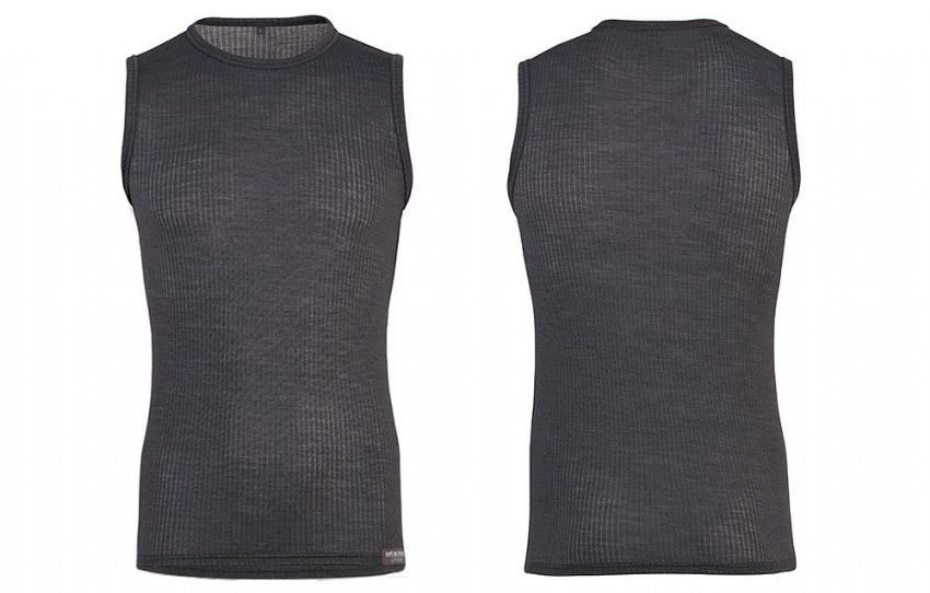 Café Du Cycliste Men's Gabrielle Sleeveless Base Layer - Shark Grey